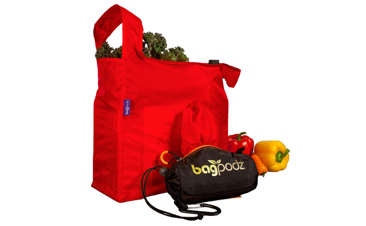 BagPodz Reusable Grocery Bag and Storage System- Cayenne Red