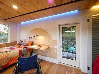 Home But Don T Need A Kitchen The Wheel Pad Is An Accessible Tiny Option This 200 Square Foot Built Specifically For Wheelchair Users