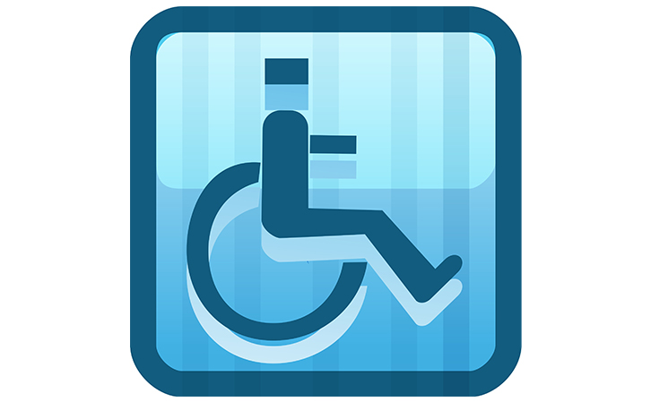 Boarding handicapped person in a wheelchair