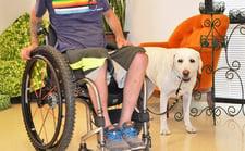 Custom Quad Wheelchair Leash