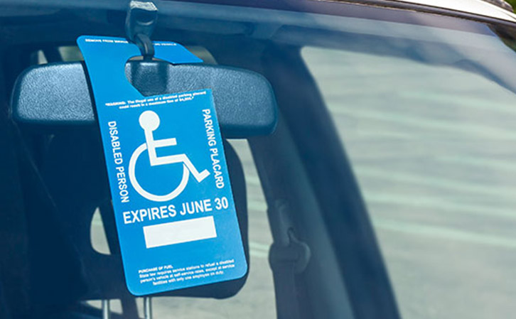 Disablitity Parking Placard