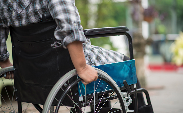 Person-Using-Wheelchair-from-Paraplegic-Injury