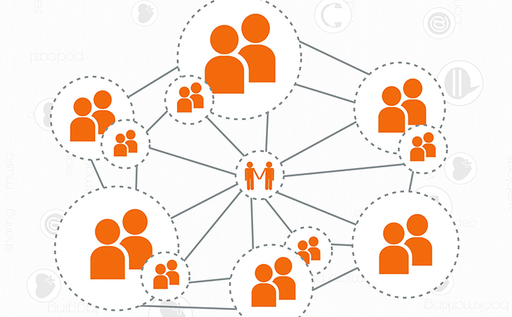Social Media People Connecting Together