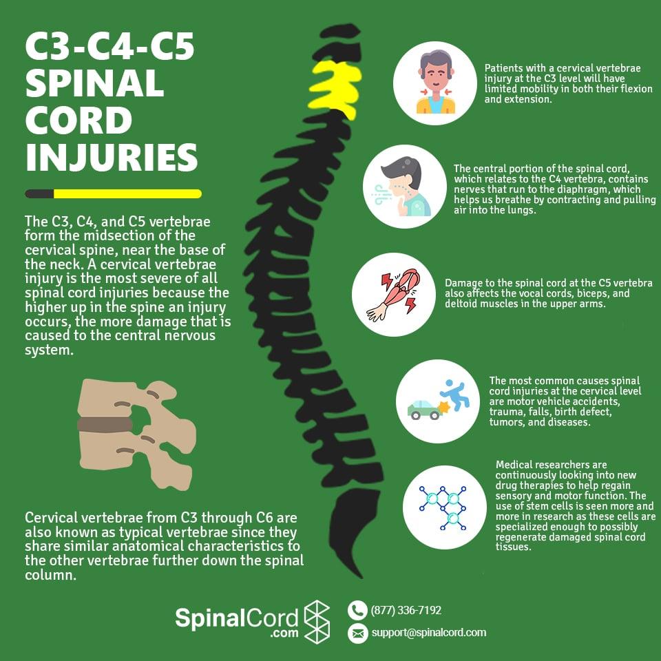 cervical spine c3-c4-c5 spinal cord injuries
