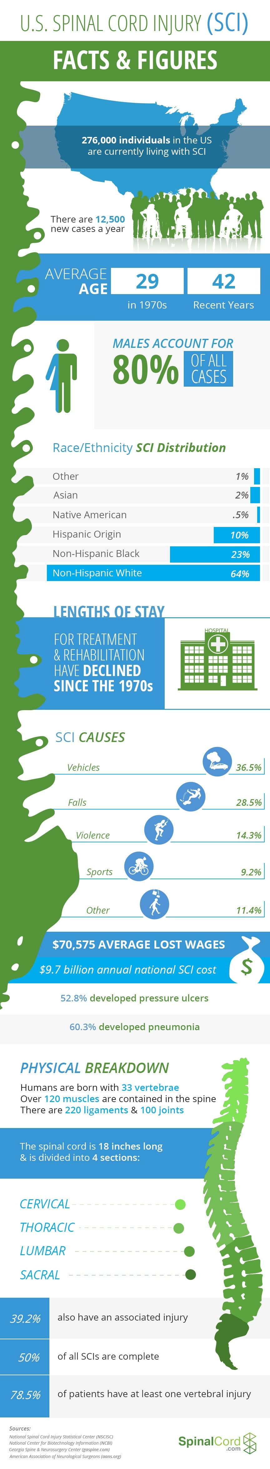 Spinal Cord Injury Facts Infographic