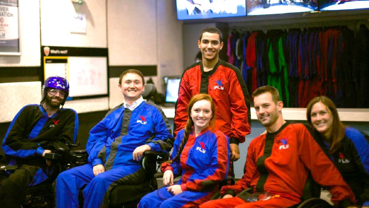 Adaptive Indoor Skydiving